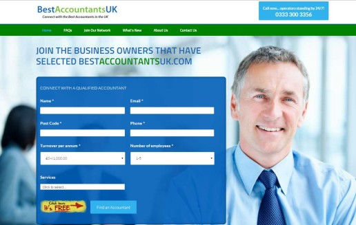 BestAccountantsUK Website Homepage Screenshot